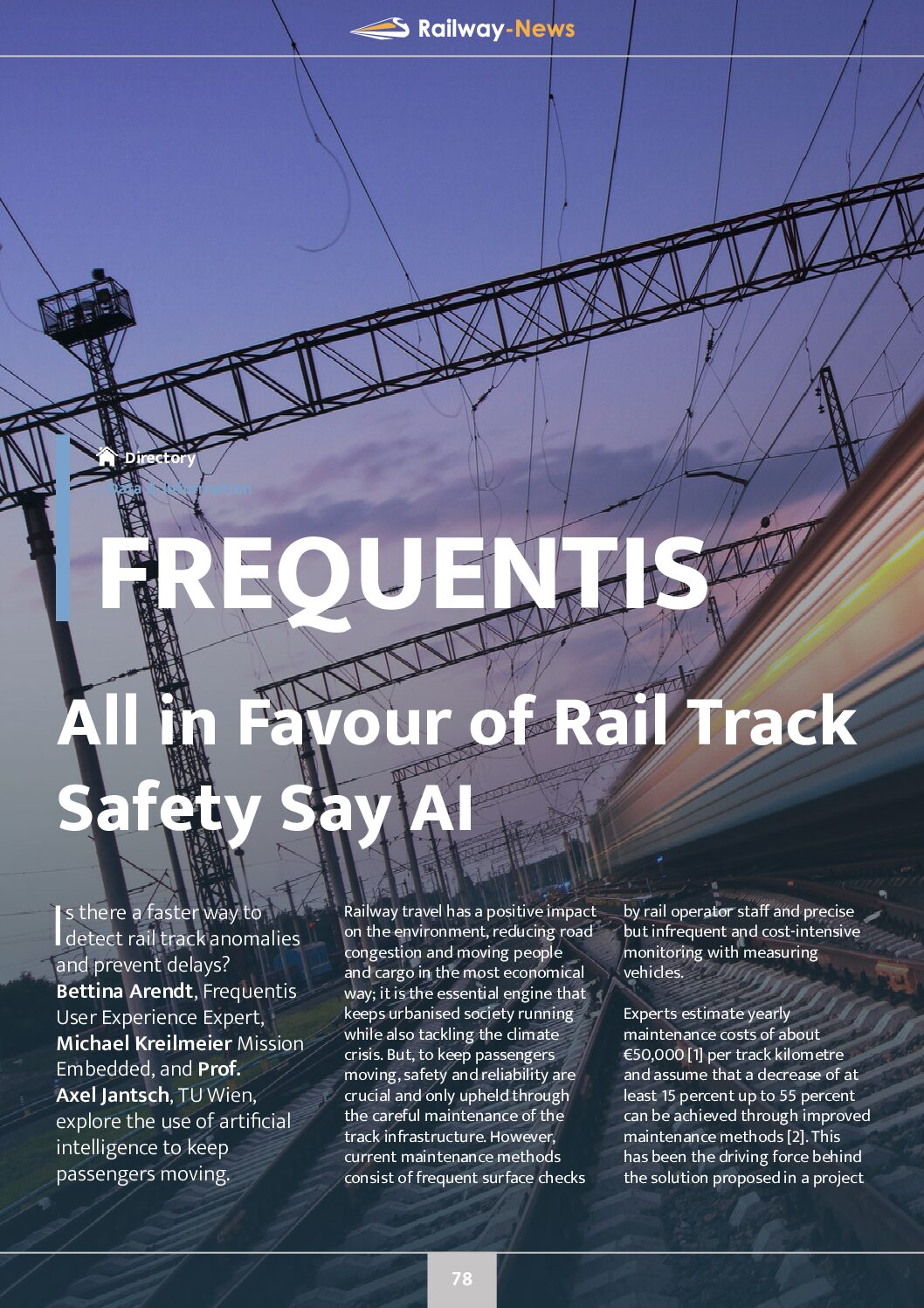 All in Favour of Rail Track Safety Say AI