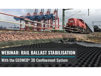 Rail Ballast Stabilisation with GEOWEB® Geocells