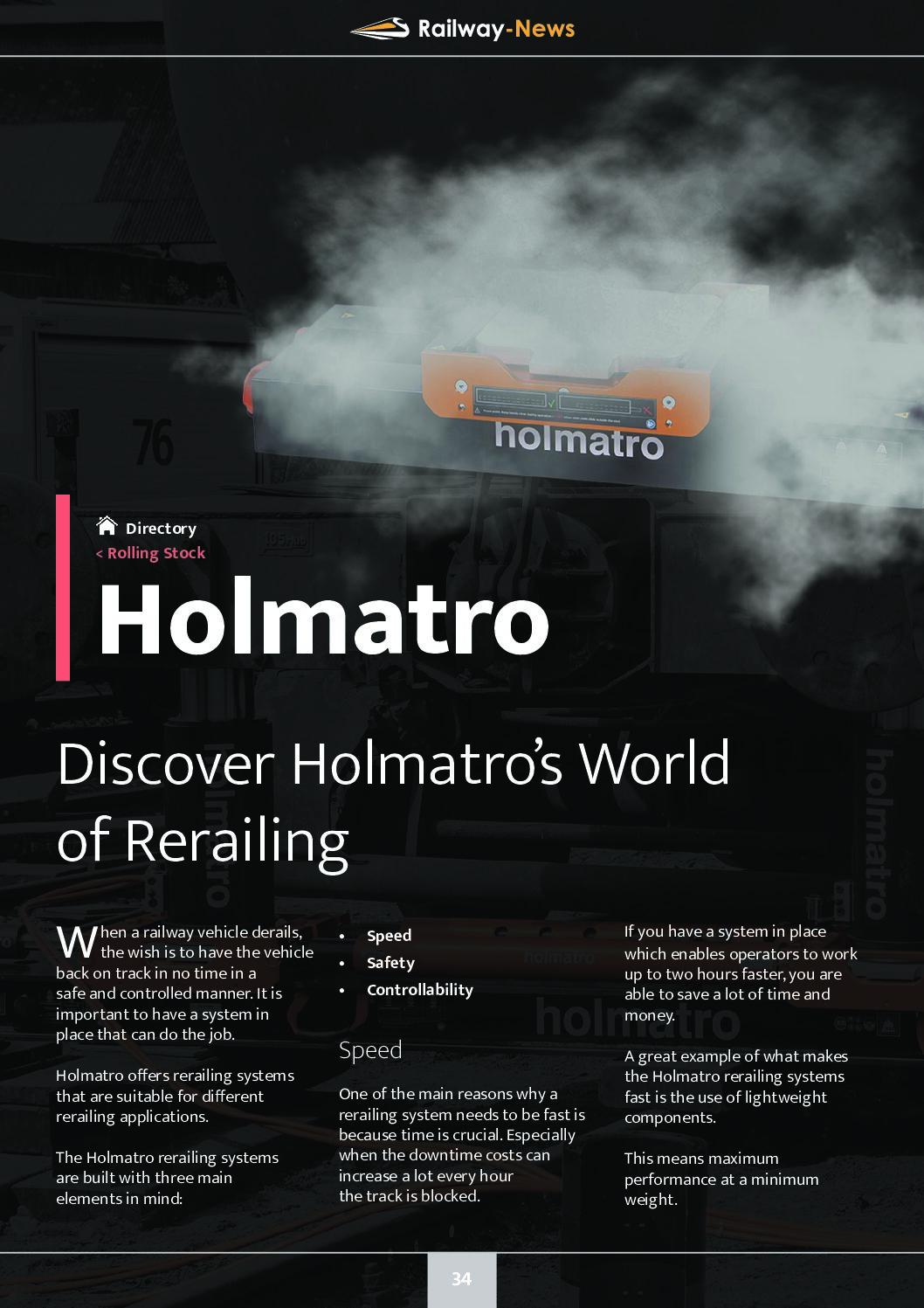 Holmatro – Discover Holmatro's World of Rerailing