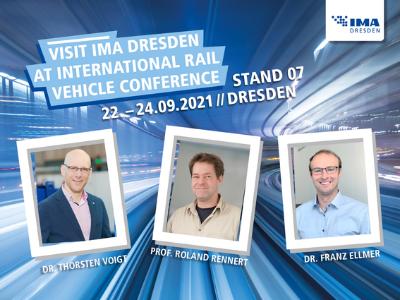 Visit IMA Dresden at International Rail Vehicle Conference